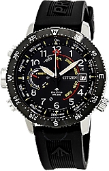 725542177 Citizen BN5058-07E Altichron Eco-Drive Powered Altimeter and Compass Watch  Black Dial, Black Ion Plated Stainless Steel Case and a Signature  Polyurethane ...