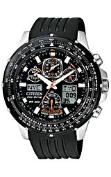 Citizen Skyhawk Watch, Pilot's Watch, AT Atomic Time Polyurethane Strap with Locking Clasp (JY0000-02E)