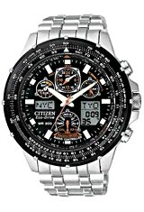 Citizen Skyhawk Watch, Pilot's Watch, AT Atomic Time Stainless Steel Bracelet (JY0000-53E)