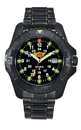 UZI Black Defender Tritium Watch